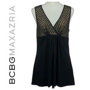 BCBGMAXAZRIA   Black & Nude Trapeze Top